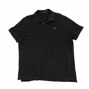 POLO RALPH LAUREN Men's Gray Short Sleeve Polo XXL